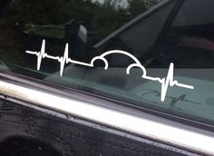 Vw Volkswagen Beetle Pulse Heartbeat Window Decal Sticker Graphic Vag Not Euro | eBay