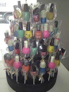 Nail polish bottle cake pops...cute!
