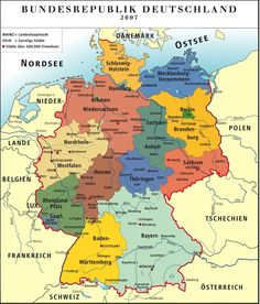 Downloadable color Political Map of Germany