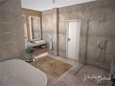 Návrh rodinného domu Rodinný dom s wellness, pohľad na vstup a umývadlá hlavnej kúpeľne Alcove, Bathtub, Bathroom, Standing Bath, Bath Room, Bath Tub, Bathrooms, Bathtubs, Bath