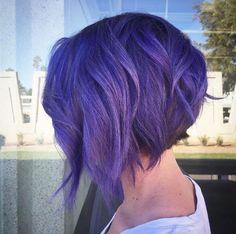 Purple textured bob by Annie Feratu