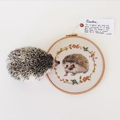 It's so lovely to see my finished illustration, next to the real @mrstiggiewinkle_ !!! It's surreal to know a piece of my work is in another country! Thankyou for sharing this photo @carolinetwohillphotography !! :) :) #embroidery #embroideryhoop #hoopart