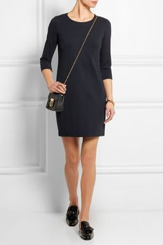 Theory | Stretch-jersey crepe mini dress | $485