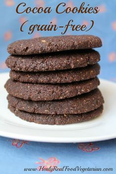 Cocoa Cookies (grain-free) @ Healy Eats Real #chocolate #glutenfree