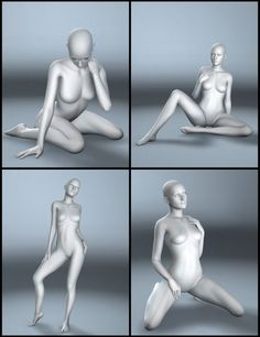 Artistic Poses for Genesis 2 Female and Victoria 6   People for Poser and  Daz Studio