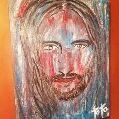 Rostro de jesuscristo absatracto autor lorenzo aquino