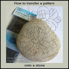 Rock Painting Technique: Pattern Tracing from Painting Rock & Stone Animals, Nativity Sets & More (sharpie rock art) Pebble Painting, Dot Painting, Pebble Art, Stone Painting, Painting Tips, Pattern Painting, Painted Rocks Craft, Hand Painted Rocks, Painted Stones