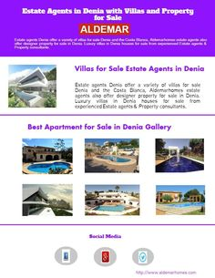 Estate agents Denia offer a veriaty of villas for sale Denia and the Costa Blanca, Adlemarhomes estate agents also offer designer property for sale in Denia. Luxury villas in Denia houses for sale from experienced Estate agents & Property consultants.