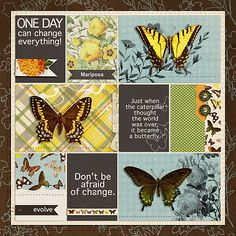 Mariposa by Iowan using digital scrapbooking products from the Lilypad