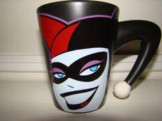 Omg I need to find this ASAP!!!!! harley quinn mug - holy shit this mug is amazing!