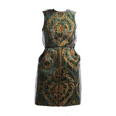 Preowned Dolce & Gabbana Brocade Cocktail Dress (288.965 RUB) ❤ liked on Polyvore featuring dresses, multiple, brocade dress, brocade cocktail dress, black cocktail dresses, black summer dress and summer cocktail dresses
