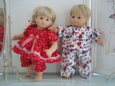 Bitty Baby Twins Pajamas Boy/Girl by MenaBella on Etsy