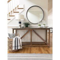 Looking for style tips on how to style an entryway? Read on for tried and true decorating tips and style how-tos from Annie Selke on styling an entryway. Entry Foyer, Entryway Decor, Entryway Tables, Entryway Ideas, Modern Farmhouse Design, Round Rugs, Coastal Living, Interior Design, Annie