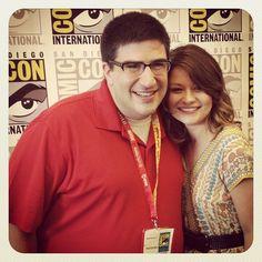 Emille De Ravin and Adam Horowitz #SDCC #OnceUponATime @ San Diego Comic-Con International 2012