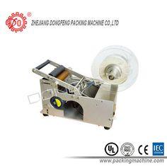 Manual adhesive labeling machine