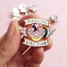 Fight evil and win love with this shiny enamel pin! Add sparkle to any outfit and be part of the club. The perfect gift to every moonie. 🌙 Sailor Moon has been a huge part of my childhood so I decided to make this pin! This is for all the magical girls out there. ✨ ♥ Standard grade ♥ Rose gold