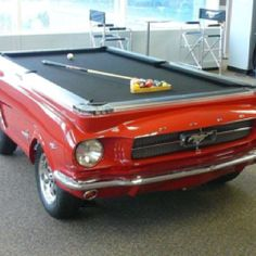 1964 Mustang turned into a pool table