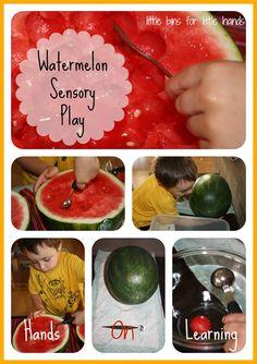 Wonderful Watermelon Sensory Play