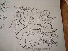 Girassol Artes e Croché!: riscos de flores para pintura em tecido.