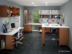 Well organized craft and hobby room.  Naples Florida Home Organization Company.  Custom Closets and More...  #craftroom #organization #hobbyroom