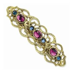 1928® Brass-Tone and Crystal Filigree Barrette -- You can get additional details at the image link. (This is an Amazon affiliate link)
