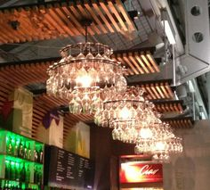 like bc wine glass chandeliers is fun, cool look if in kitchen