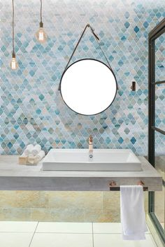 Bathroom Backsplash Ideas - People install backsplash in their bathroom to maintain certain areas with high possibility of getting wet. Tile is the most common option to utilize as a backsplash. Cottage Style Bathrooms, Coastal Bathrooms, Boho Bathroom, Bathroom Trends, Rustic Bathrooms, Bathroom Styling, Small Bathroom, Downstairs Bathroom, Bathroom Inspo