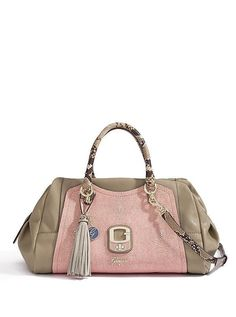 NEW GUESS CAMEL   PINK AZADEH SATCHEL BAG PURSE HANDBAG  GUESS  Satchel a475d66ce24cb