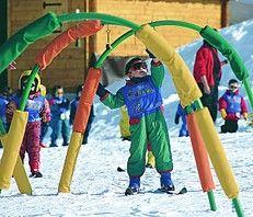 Meribel skiing, beginner ski routes