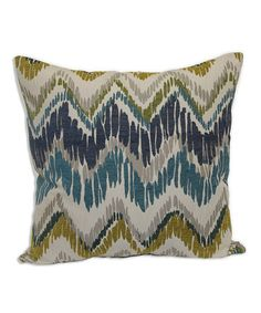 Love this Aqua Metro Flair Throw Pillow on #zulily! #zulilyfinds Matches the colors in the pillows for my new couch!