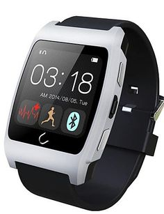 - UX - Tragbare - Smart Watch - Bluetooth 3.0/Bluetooth 4.0 - Freisprechanlage/Media Control/Nachrichtensteuerung/Kamera Kontrolle - fu00fcr - http://uhr.haus/weiq/ux-tragbare-smart-watch-bluetooth-3-0-bluetooth-4-0-2