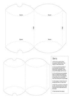 Pillow Box Basteln a versatile pillow gift box with our free pdf template pillow