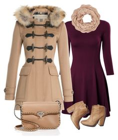 """""""Untitled #111"""" by catherine-valtair ❤ liked on Polyvore featuring Burberry, Laurence Dacade, Valentino and Accessorize"""