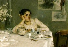Elin Danielson Gambogi - Avslutad frukost, 1890