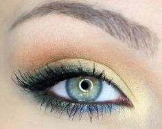 blue and gold eyeshadow | eyemakeup for blue or green eyes. by TinyCarmen