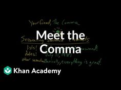 David and Paige introduce you to the superhero of the punctuation world: the comma! Practice this yourself on Khan Academy right now: . Punctuation, Grammar, How To Introduce Yourself, Sentences, David, Meet, Superhero, Learning, Frases