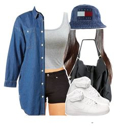 """""""For the road"""" by kiaratee ❤ liked on Polyvore featuring Tommy Hilfiger, :CHOCOOLATE and NIKE"""