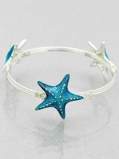 Mira este artículo en mi tienda de Etsy: https://www.etsy.com/listing/230273819/starfish-bracelet-wire-bracelet-in