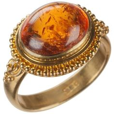 Preowned Orange Spessartite Garnet Ring In 22 Karat Yellow Gold (43.570 CZK) ❤ liked on Polyvore featuring jewelry, rings, fashion rings, yellow, garnet ring, oval ring, garnet jewelry, orange garnet ring and yellow gold rings