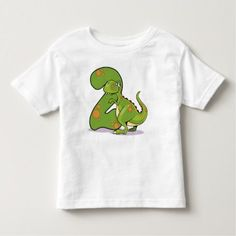 2nd Birthday Dinosaur Toddler T-shirt - tap, personalize, buy right now!