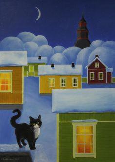 Moonlight Cat by Veikko Suikkanen