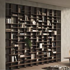 Elisabeth Library Bookcase by Pacini & Cappellini can also be installed floating in a room Furniture Ads, Furniture Showroom, Classic Furniture, Home Office Furniture, Luxury Furniture, Living Room Furniture, Vintage Furniture, Living Rooms, Furniture Dolly