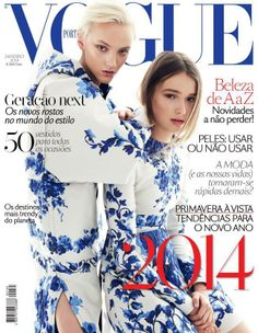 Magazine Cover: April Tiplady on the cover of Vogue Portugal January 2014 issue by Nicole Bentley