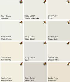 White paint colors for cabinets