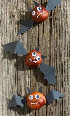 Fun Fall Crafts, Chestnuts Halloween Decorations and Craft Ideas for Kids crafts ideas crafts crafts crafts Kids Crafts, Halloween Crafts For Kids, Fall Halloween, Happy Halloween, Halloween Decorations, Christmas Crafts, Leaf Crafts, Easter Crafts, Halloween Party