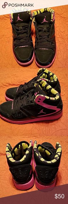 Nike Jordan's Nike Jordan's.  They are in very good condition. Size 5 Nike Shoes Athletic Shoes