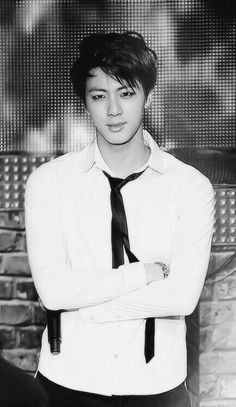BTS Jin black and white photo iphone wallpaper #hot
