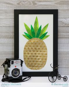 Pineapple Framed Wal