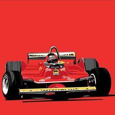 Gilles Villeneuve, door Stuart Macey