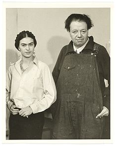 Citation: Frida Kahlo and Diego Rivera, ca. 1933 / unidentified photographer. Albert Kahn papers, Archives of American Art, Smithsonian Inst...